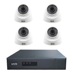 4 كاميرات مراقبة   جهاز تسجيل DVR من شركة UXD