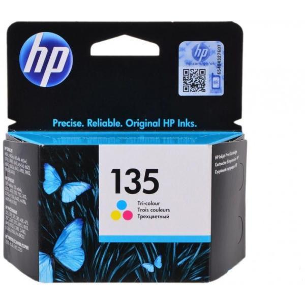 خرطوشة حبر إتش بي أصلية C8766HEHP 135 Tri-colour Inkjet Print Cartridge ثلاثية الألوان (سماوي ، وردي ، أصفر )