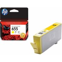 خرطوشة حبر hpاصلية HP 655 Yellow Original Ink Advantage Cartridge CZ112AE لون اصفر