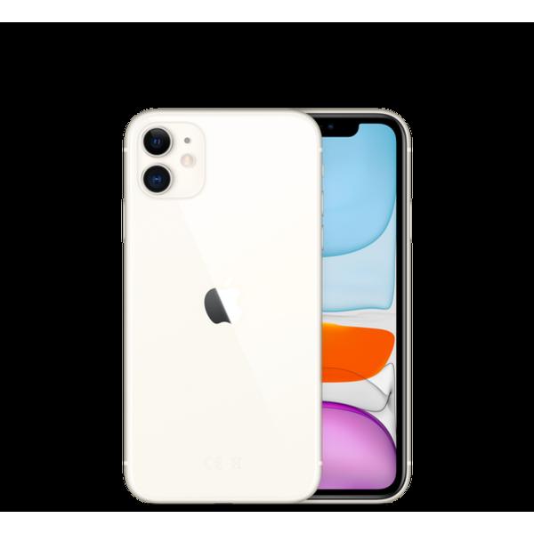 ابل ايفون 11 ذاكرة رام 4 جيجا. الجيل الرابع ال تي اي. شريحة اتصال واحدة وشريحة سيم مدمجة 64GB MWLU2AA/A