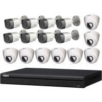 داهوا طقم 16 كاميرا مراقبة داخلية وخارجية بدقة 2 ميجا تصوير ليلي مع جهاز تسجيل مشاهدة من الجوال HDW1200RN& HFW1200TN