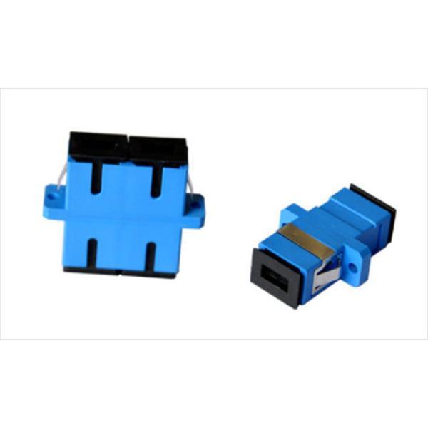 موصل خاص بكابل الالياف البصريةSC/PC SM DX Fiber Optic Adaptor العدد 50 حبة اللون ازرق