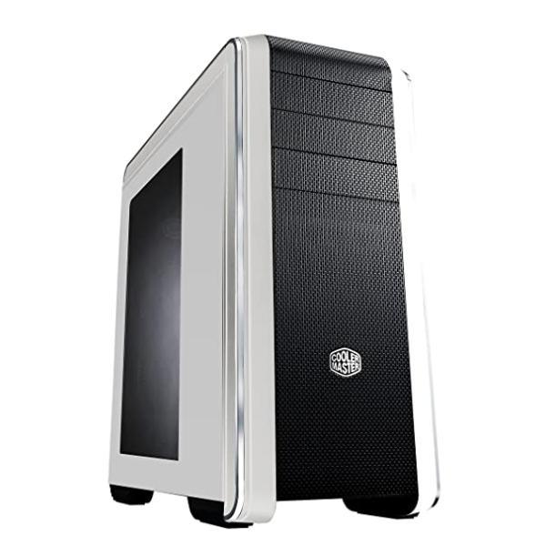 هيكل كمبيوتر كولر ماستر CMS-693-GWN1-WWN1-V2 - أبيض