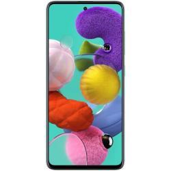 هاتف سامسونج جالكسي ايه 51 ثنائي شرائح الاتصال بذاكرة 128 جيجا وذاكرة رام 6 جيجا واتصال من الجيل الرابع ال تي اي، لون ازرق