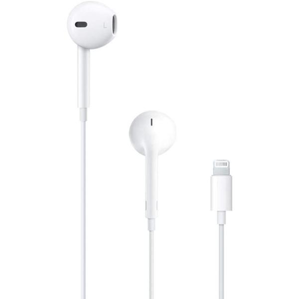 سماعات رأس وأذن سلكية لايتنينغ لهاتف ابل ايفون 7 و8 وايفون 7 و8 بلس وايفون اكس واكس اس واكس اس ماكس واكس ار مع ميكروفون