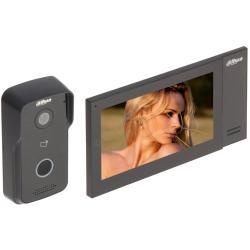 انتركوم مع شاشة داخلية بحجم 7 انش وكاميرا خارجية وتطبيق بالهواتف الذكية للمشاهدة من الجوال من داهوا