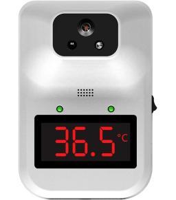 جهاز قايس درجة الحرارة عن بعد من كيه 3 بلس مع حامل ارضي يعمل بالاشعة تحت البنفسجية بدون لمس ويوفر قراءة رقمية للحرارة مع قاري بالصوت