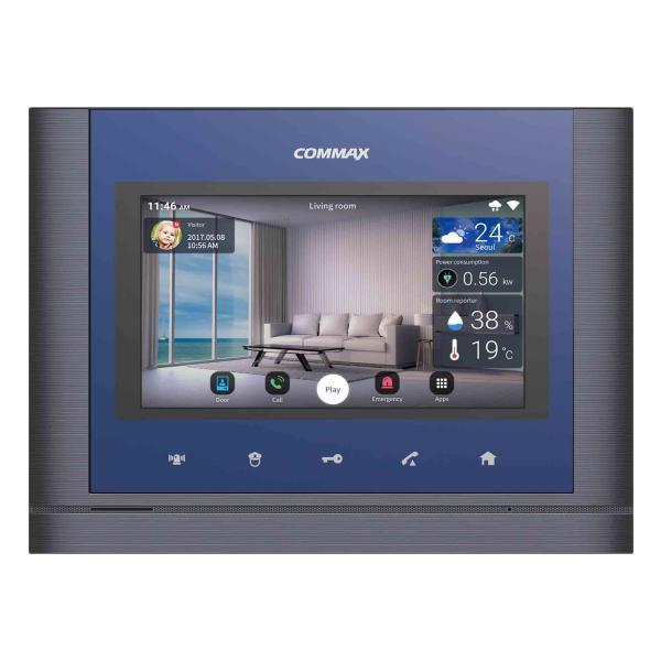 كوماكس CIP-700M - شاشة انتركوم عالية التقنية ذكية ملونة مائية POE داخلية تعمل باللمس 7 انش باسبيكر مزودة بواي فاي