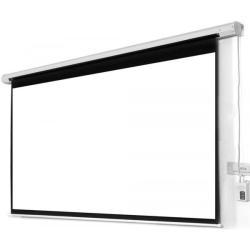 شاشة عرض بروجكتر كهربائية تعمل بالريموت كنترول كبيرة الحجم مقاس 240*240 سم