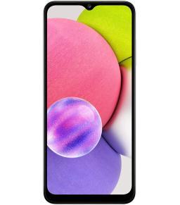هاتف سامسونج جالاكسي A03s ال تي اي ثنائي شريحة الاتصال - 32 جيجا، رام 3 جيجا، ابيض