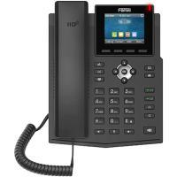 هاتف فانفيل Fanvil X3SG IP مع 4 خطوط SIP ومفتاح وخط عرض ملون 2.8 بوصة