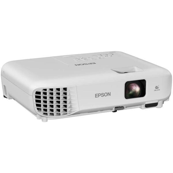 جهاز عرض اكس جي ايه 350 بوصة بتقنية 3LCD وشدة اضاءة 3300 لومن ونسبة تباين 15000:1 للمنزل والمكتب من ابسون، ابيض،EB-E01