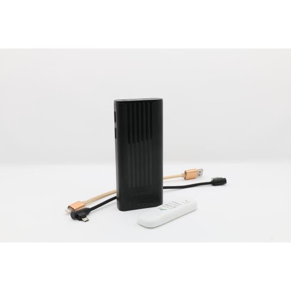تكنو باور  بنك أسود  سعة 11000 مللي أمبير مع راوتر - واي فاي USB