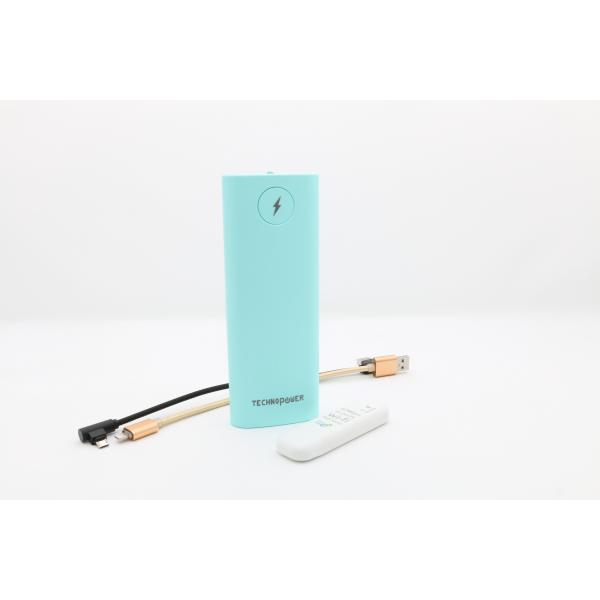 تكنو باور  بنك  أزرق سعة 13200 مللي أمبير مع راوتر - واي فاي USB