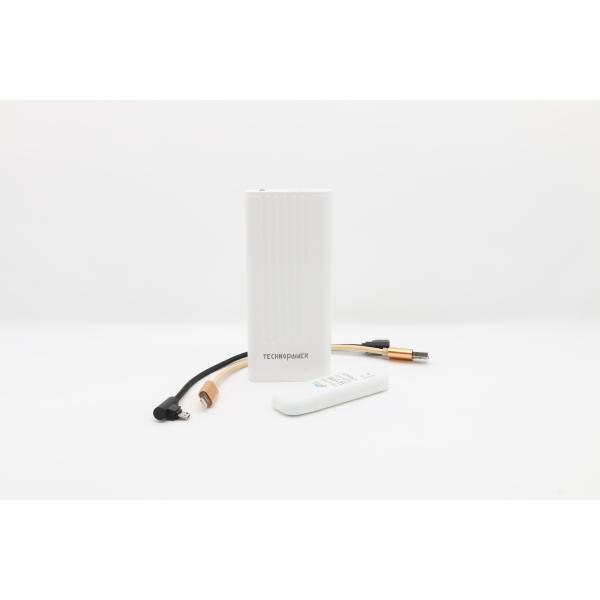 تكنو باور  بنك أبيض  سعة 10000 مللي أمبير مع راوتر - واي فاي USB