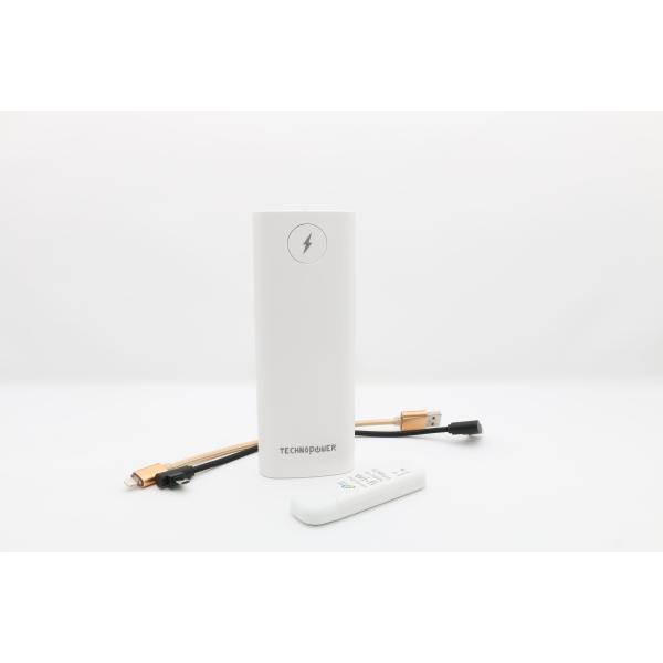تكنو باور  بنك أبيض  سعة 13200 مللي أمبير مع راوتر - واي فاي USB