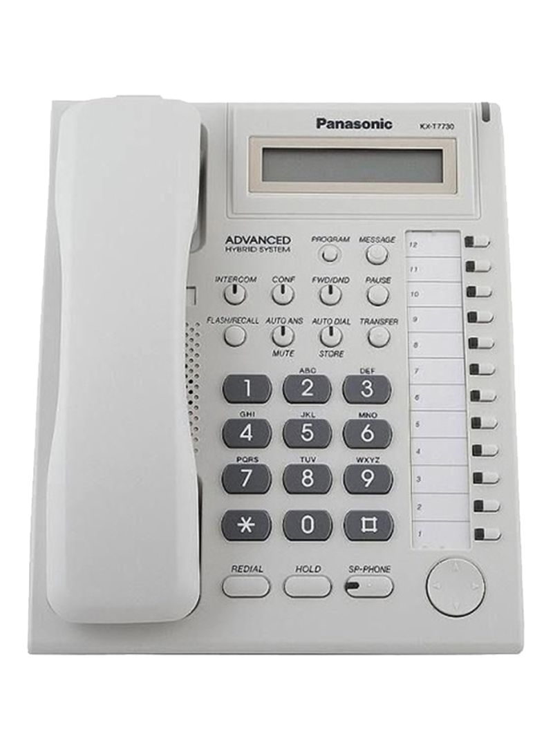 تليفون بانسونيك اسود شاشة اظهار المتصل Panasonic KX-T7730 Phone
