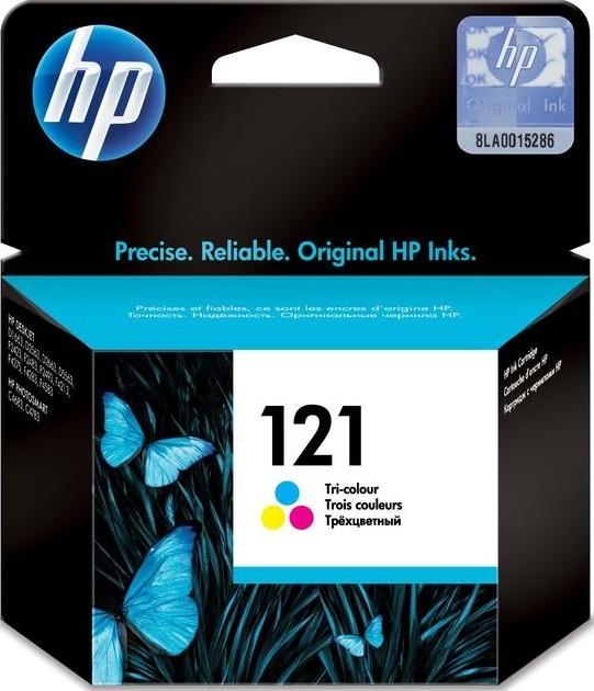 خراطيش الطباعة حبر ثلاثية الألوان  HP CARTRIDGE Color (121) CC643HE