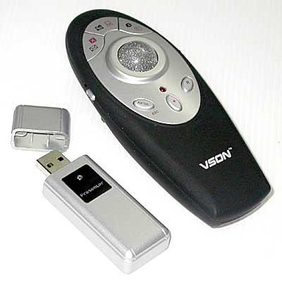أداة تحكم لاسلكية عن بعد بتردد 2.4 ج هـ لشاشة البروجيكتر Vson V-820