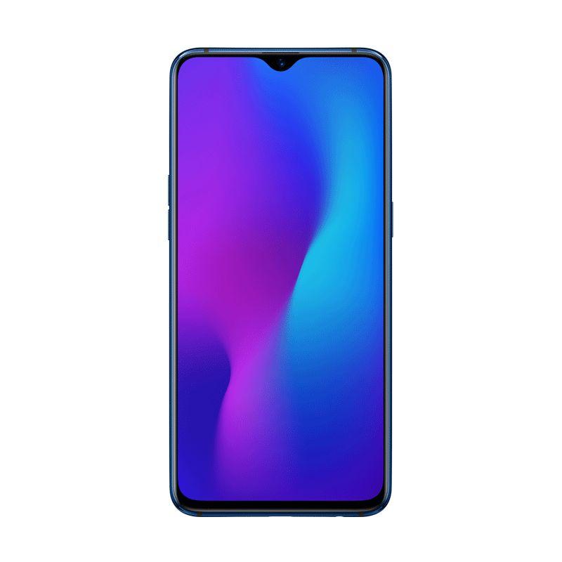 هاتف اوبو R17 بشريحتي اتصال - 128 جيجا، 6 جيجا رام، الجيل الرابع ال تي اي ازرق