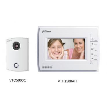 جهاز انتركوم بكاميرا مراقبة فيديو ملونه شاشة 7 بوصه DH-VTKA-VTH1500AH