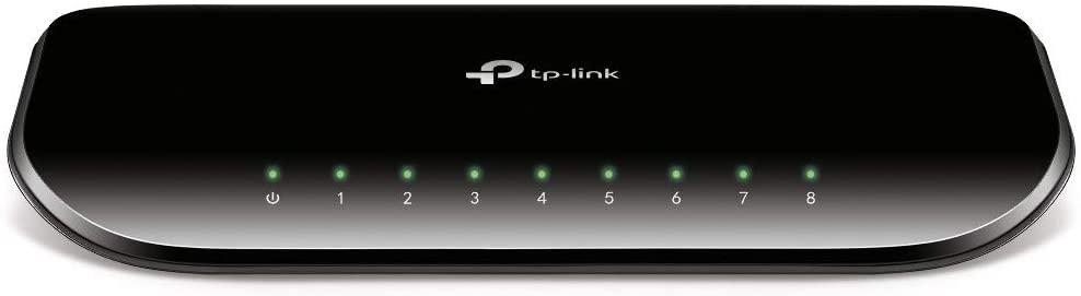 سوتش جيجابت تي بي لينك 8 منافذ 8-Port Gigabit Desktop Switch TL-SG1008D
