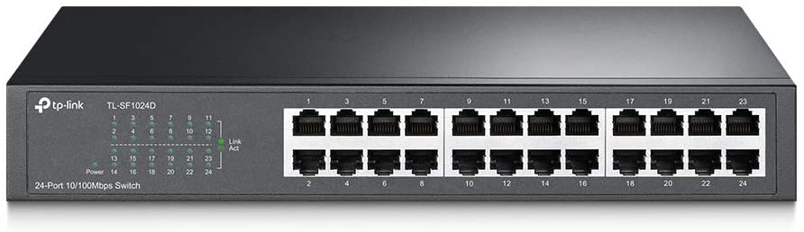 سوتش راك تي بي لينك 24 منفذ 24-Port 10/100Mbps Rackmount Switch TL-SF1024
