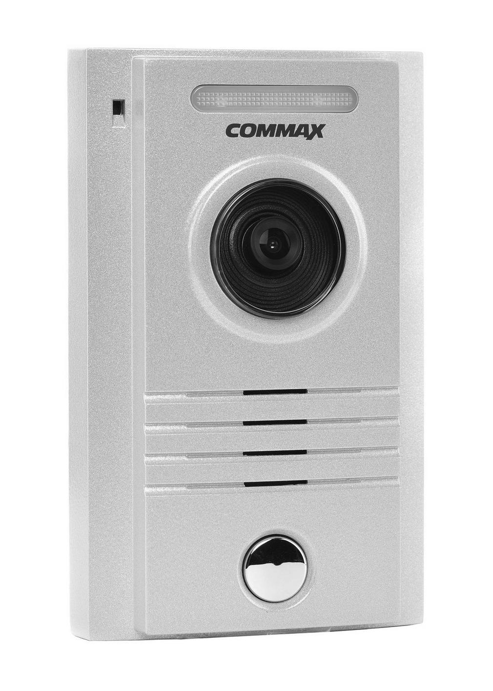 زر انتركوم خارجي بكاميرا بوابة ملونة يمكن ربطها ب 3 شاشات داخلية  من كوماكس DRC-40K