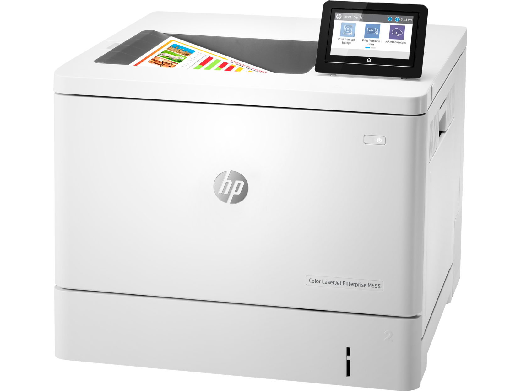 طابعة اتش بي ليزر جت HP Color LaserJet Enterprise M555dn بالألوان