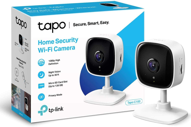 كاميرا مراقبة تابو الصغيرة والذكية من تي بي لينك، مع سي سي تي في داخلي، وتعمل مع اليكسا وجوجل هوم، بجودة 1080 بي وصوت ثنائي الاتجاه ورؤية ليلية، وبطاقة تخزين اس دي، مع تطبيق تابو مجاني (تابو سي 100)