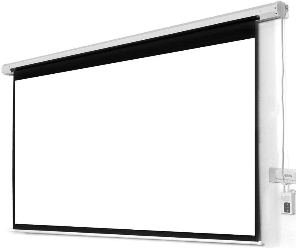 شاشة عرض بروجكتر كهربائية تعمل بالريموت كنترول كبيرة الحجم مقاس 290*290 سم
