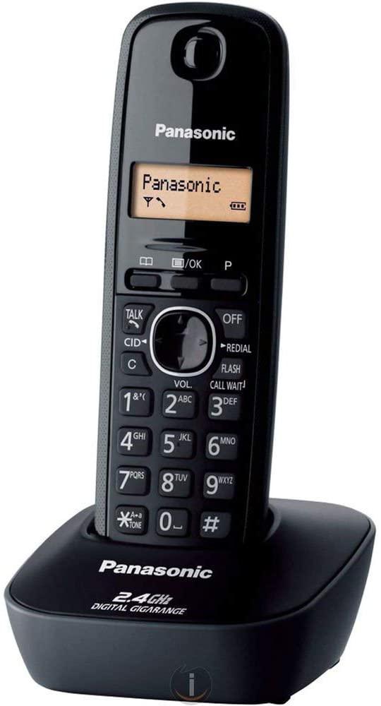 باناسونيك KXTG3411 هاتف لاسلكي المدى 2.4 جيجاهيرتز (أسود)