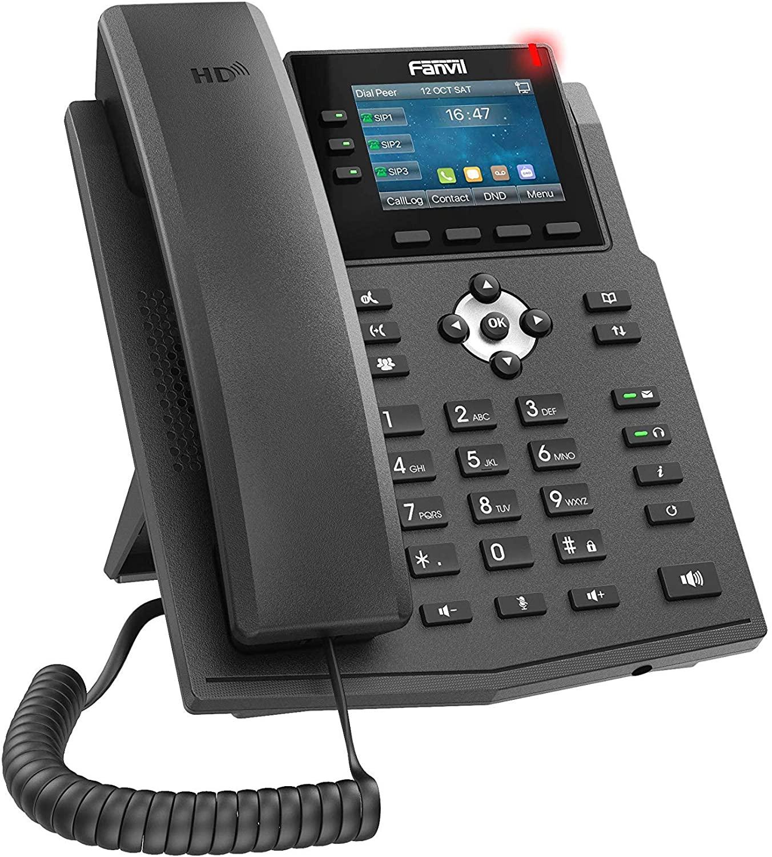 هاتف فانفيل Fanvil X3U IP مع 6 خطوط SIP ومفتاح وخط عرض ملون 2.8 بوصة