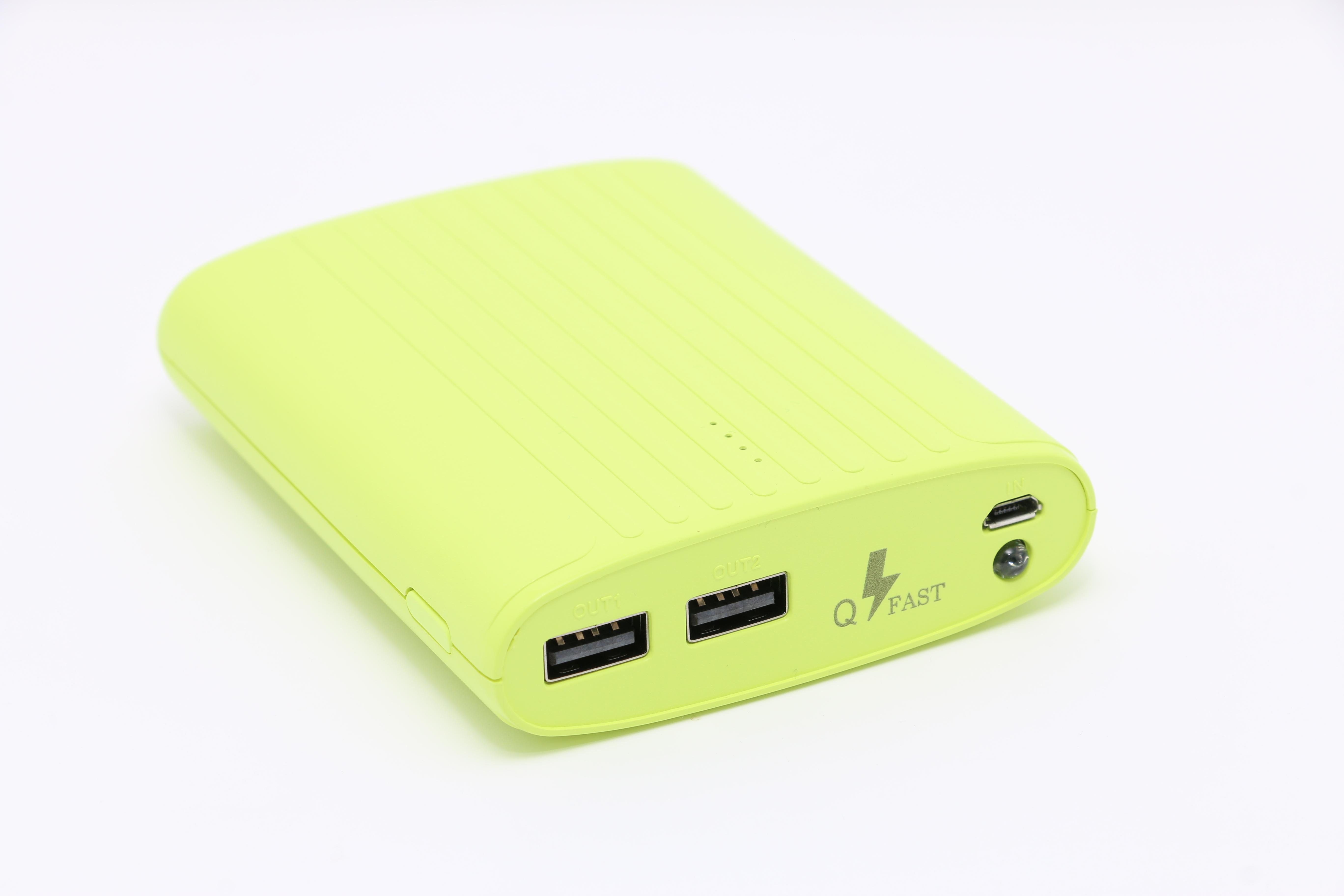 تكنو باور  بنك أخضر  سعة 8800 مللي أمبير مع راوتر - واي فاي USB